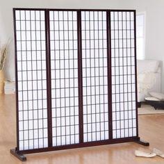 Jakun 4 Panel Shoji Room Divider with Optional Stand