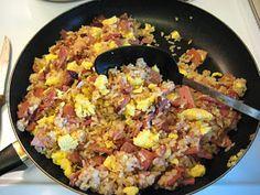Ham Fried Rice-YUM!