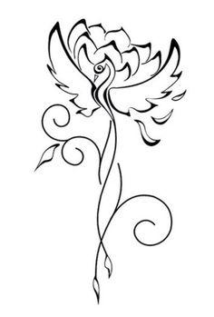 What I will remember I learned in Phoenix. The Lotus Sutra Phoenix Tattoo Feminine, Small Phoenix Tattoos, Phoenix Tattoo Design, Small Tattoos, Tattoo Femeninos, Unalome Tattoo, Tattoo Drawings, Time Tattoos, Body Art Tattoos