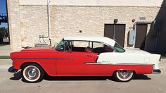 Auction Lot Austin, TX Frame-off restoration Red and White. 1955 Chevy Bel Air, 1955 Chevrolet, Chevrolet Bel Air, My Dream Car, Dream Cars, Us Cars, Car Photography, Old Trucks, Buick