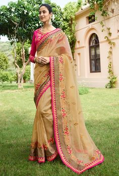 #beige color #sarees are available in many fabrics like net, #chiffon, #cotton, #georgette, jacquard and #crepe. #Nikvik is the #bestseller of beige #color #saree in #USA #AUSTRALIA #CANADA #UAE #UK