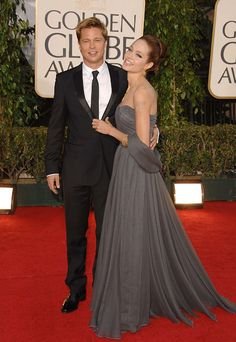 In 2007, Brad and Angelina hang out at the Golden Globes
