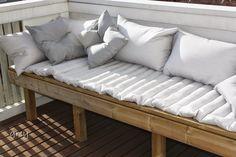 Parvekkeen penkki Decor, Furniture, Outdoor Decor, Sofa, Outdoor Furniture, Home Decor, Outdoor Sofa