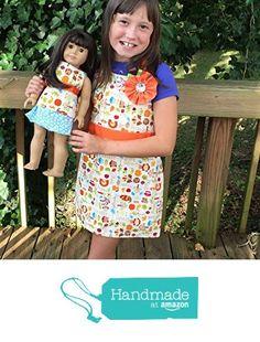 Matching apron set for girls and dolls by Sara Sews from Sara Sews https://www.amazon.com/dp/B015DLS45S/ref=hnd_sw_r_pi_dp_xKvGxbZE79775 #handmadeatamazon