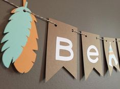 Tribal Teepee & Brave& Baby Shower Banner by modestedge on Etsy Wild One Birthday Party, Baby Boy 1st Birthday, Baby Party, Anniversaire Cow-boy, Woodland Party, Diy For Girls, Baby Decor, Baby Boy Shower, Party In A Box