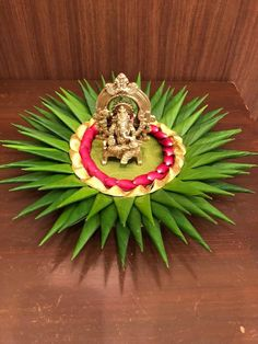 Cow and calf Thali Decoration Ideas, Ganpati Decoration At Home, Diy Diwali Decorations, Indian Wedding Decorations, Festival Decorations, Flower Decorations, Engagement Decorations, Backdrop Decorations, Diwali Diy