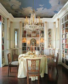 Interior Designer Laurel Bern shares ideas on ceiling decor. All Westchester areas - Katonah, Bedford, Bronxville, Chappaqua, Larchmont, Scarsdale, Rye