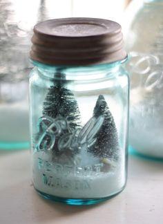 Mason jar snow globes by A Prairie Market