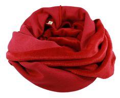 b2adeb2f5e24bc Loop Schal Rundschal Wendeschal rot Loop Schal doubleface rot von klennes  Ein Schal mit zwei Gesichtern