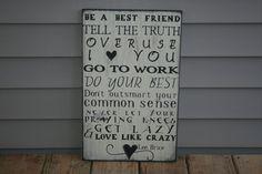 Love like crazy, lee brice lyrics, handpainted wood wall hanging, home decor on Etsy, $48.68 CAD