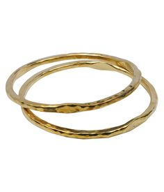 Thick hammered bangle now available at MITZI B
