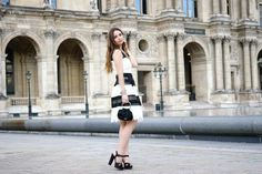 Going Out Black and White Dress