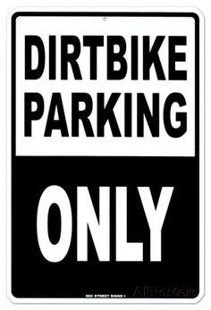 Dirtbike Parking Tin Sign at AllPosters.com