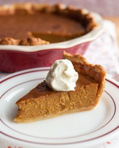 Even with all the spiced lattés, pumpkin beers, nutmeg-dusted baked goods, and squash-filled treats in the world, there will always be one day of the year when we crave the real deal. Thanksgiving without pumpkin pie just wouldn't feel right. Here is our version of the classic pie, plus a few tricks to help you make it the best one you've ever had.