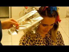 como hacer #mechas con papel aluminio | mary forti - YouTube