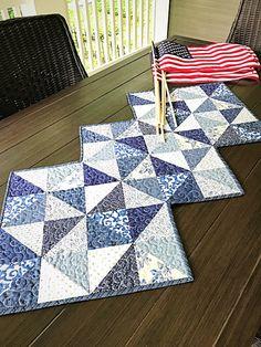 Pinwheel Quilt Pattern PDF Patriotic Quilt Pattern Table Runner Beginner Quilt Pattern