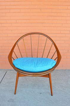 MId Century Ib Kofod Larsen for Selig Hoop Chair $775