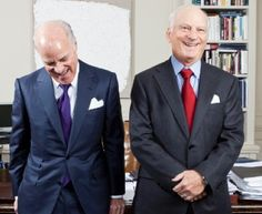 Henry Kravis (pictured with cousin George Roberts) created the Henry Kravis Prize in Leadership - Which gives money towards the student's non-profit work.