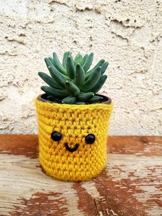 Succulent diy pots etsy 29 New Ideas Succulent Pots, Succulents Diy, Planting Succulents, Plant Art, Plant Decor, Pineapple Planting, Plant Covers, Crochet Gifts, Decoration