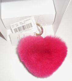 Michael Kors Charms Fur Large Pom Bag Charm Fob Key Ring Handbag Ultra Pink   532b127c7