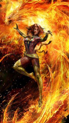 Jean Grey - Dark Phoenix by John Gallagher. Heros Comics, Marvel Comics Art, Marvel Comic Universe, Comics Universe, Marvel Heroes, Captain Marvel, Dark Phoenix, Phoenix Marvel, Jean Grey Phoenix