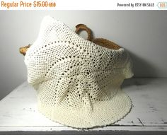 Very large handmade doily center piece round by frenchvintagedream