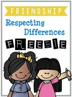 This freebie offers you several activities that will help teach students about friendship and respecting differences. Friendship: Respecting Differences-Despite Our Differences-Friendship Words-Good Friend vs. Bad Friend-Friendship Acrostic Poem-Me Too!