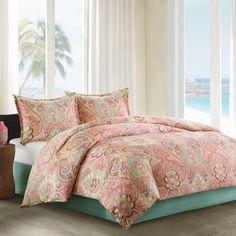 Echo Guinevere Comforter Set, Queen, Coral/Mint Foam ECHO http://www.amazon.com/dp/B00HAFDC0I/ref=cm_sw_r_pi_dp_CHkHwb1WH87SH