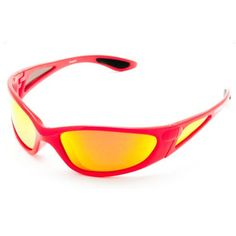 Fishgillz Key West Floating Sunglasses, Red Frame and Polarized Fire Mirror  Lenses, 7654ae31e6