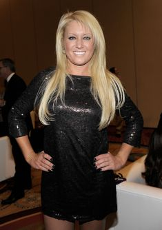 Natalie Gulbis Little Black Dress - Natalie Gulbis sparkled in a sequined little black dress at Muhammad Ali's Celebrity Fight Night XVII.