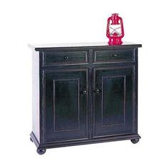 Jayson Decorative Storage Cabinet in Black