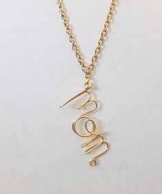 Personalized Name Plate Gold Necklace for Mom