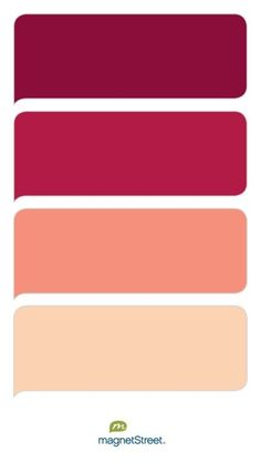 Burgundy, Wine, Coral, and Peach Wedding Color Palette - custom color palette created