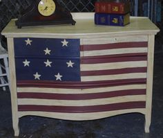 Americana Antique dresser by ''Dee.''