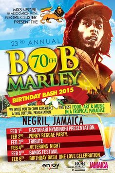 Celebrate Bob Marley's 70th birthday in Negril
