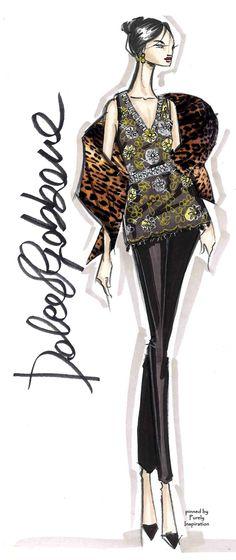 Dolce & Gabbana Fashion Illustration | Purely Inspiration