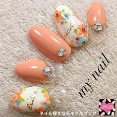 ネイル デザイン 画像 1368558 ピンク オレンジ ホワイト ブルー パープル グリーン ハート 変形フレンチ フラワー 春 チップ ハンド ミディアム