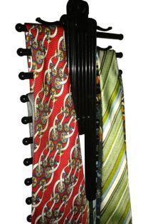 Tie Rack Hanger - the Original Necktie Cross Hanger from Aristocrat - 20 Tie Holders - Tie Rack Hanger with Criss-Cross Design – Closet Organizer Tie Rack, Tie Hanger, Hanger Clips, Non Slip Hangers, Tie Organization, Cool Ties, Closet Designs, Closet Storage, Organizers