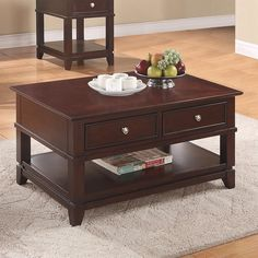 Riverside 65802 Marlowe Cocktail Table in Warm Ebony