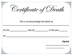 Medical certificate of death what does a death certificate look death certificate template yelopaper Choice Image