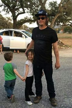 Norman Reedus with some little ones