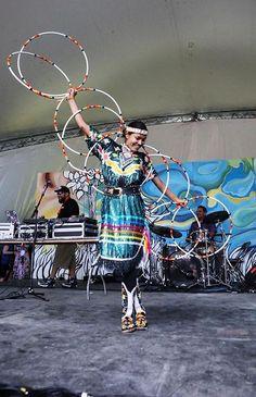 Hoop Dancer at the Winnipeg Folk Festival, Manitoba