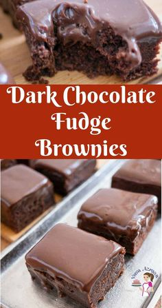 Make a classic chocolate brownie with a fudge topping for your next family get together. The dark chocolate fudge brownies are rich, decadent and fudgy. Made with good quality chocolate, brown sugar, a hint of warm spices and a touch of coffee. These are guaranteed to get your get asking for the recipe. #chocolatefudgebrownie #chocolatebrownie #darkchocolate #brownierecipe #bestbrownie Best Dessert Recipes, Sweet Desserts, Easy Desserts, Delicious Desserts, Yummy Food, Bar Recipes, Amazing Recipes, Dessert Ideas, Yummy Recipes