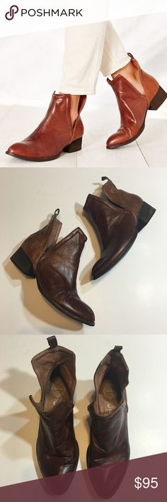 Jeffrey Campbell Muskrat Leather Cutout Booties So cute and perfectly on trend! Sold out everywhere. Excellent pre worn condition with creasing and light wear to leather and insoles. Closer to the color of the stock photo. No trades!! 0291740gws Jeffrey Campbell Shoes Ankle Boots & Booties