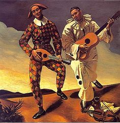 Harlequin-and-Pierrot-1924  Andre Derain