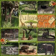 Animal Kingdom Scrapbook Page