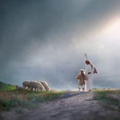 My Young Shepherd Jesus Christ Lds, God Jesus, Savior, Pictures Of Jesus Christ, Christian Artwork, Lds Art, Jesus Painting, Biblical Art, The Good Shepherd