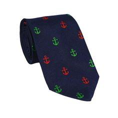 Anchor Necktie - Port & Starboard, Woven Silk #ties #mensties #men'sneckties #mensfashion #mensstyle #mensoutfits #mensootd #bowtie #pocketsquare #socks #menssocks
