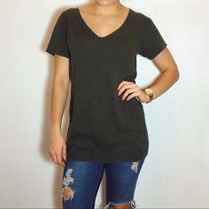 Isabel Marant top size L linen t shirt designer green short sleeve women's e'toi #IsabelMarant #teeshirt
