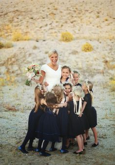 Bride and all her flower girls!   Tessa Barton photography
